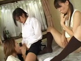 Japanese Mother Daughter and Ladyboy Daughter
