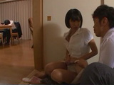Housewife Riku Minato Fucked Husbands Guest While Her Hubby Sleeping Wasted Drunk