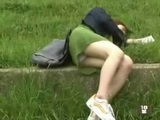 Student Girl Found Sleeping In Park Gets Her Clothes Cut Off With Scissors