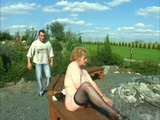 Granny Caught Masturbating In The Garden Gets Fucked By Young Guy