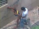 Voyeur Tapes Black Teen Couple Fucking On The Street