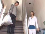 Japanese Guy Jerked Off On His Neighbor After Seeing Her In Seductive Tights