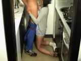 Spanish Amateur Wife Hides The Cam And Tapes Her Fucking Real Repairman In The Kitchen