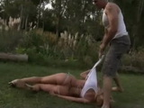 Unsatisfied Gardener Brutally Anal Rapes Wife Of His Boss In the Garden