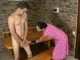 Aunty Helping Shy Nephew To Became A Man