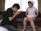 Granny Maid Ono Koharu Fulfill Desire Of Her Horny Young Master