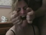 Slutty mature ex wife gets rough throat fuck and messy facial homemade