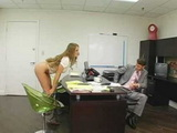 Busty Blonde Secretary Knows What Makes Her Boss Happy