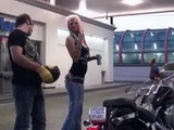 Nympho Bitch Giving Her Pussy In Exchange For Ride On Harley