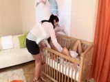 Mom And Daughter Diaper