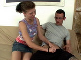 Nerdy Boy Couldnt Belive That His Stepsister Get Horny On Him