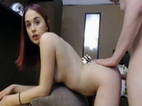 Redhead Teen Riding Dick And Fucked From Behind By Her Boyfriend