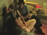 Nympho Homemade Threesome