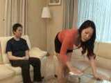 Japanese Stepmom Waves Too Much With Sexy Butt And teases Horny Boy