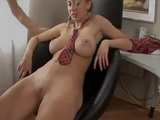 Busty Schoolgirl Roberta Fucking Her Friend In Dads Office