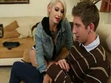 Tattooed Short Hair Blonde Fucks Girlfriends Shy Brother