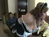 Horny Boss Could Not Stand Anymore BBW Maid Teasing