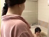 Mother Masae Kodani Enters Bathroom While Her Shy Teenage Son Was Having Bath and Fucks Boy