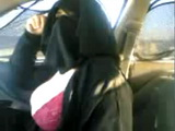 Arab Mature Woman Flashing Boobs and Panties In Car