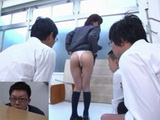 Shocked Teacher Spied While Schoolgirl Narumi Urumi Sucks Off and Eats Cum To Her Classmates