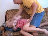 Pissed Of Step Father Roughly Punishes His Disobedient Daughter With Rape
