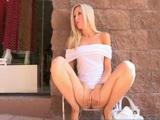 Emily Sexy Blonde Masturbates In Public