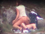 Voyeur Busted Teen With Lovely Ass Fucking Her Bf In the Mountain