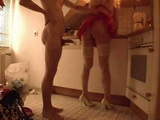 Step Mom Surprised From Behind In Her Kitchen