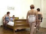 Three Mature Moms VS Student Boy