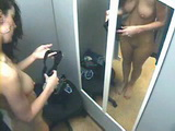 Hidden Camera Tapes Swimsuit Testing in Dressing Room
