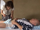 Embarrassed Daughter In Law Kaoru Natsuki Forced To Nurse Old Helpless Father In Law