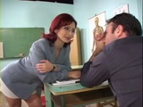 Milf Sex Teacher Lisa Moneli Hard Anal Fucked and Dped In Classroom By 2 Students
