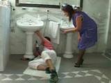 Desperate For Sex Mature Housewife Fucks Plumber In Bathroom