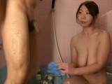 Bathing With Big Titted Stepmom Kitabori Takumi End Up With Blowjob