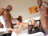Riley Reid Gets Destroyed By Lexington Steele and His Friend