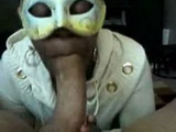 Amateur Afroamerican Masked Wife Deepthroat Choke and Gag While Blows Hubby Cock