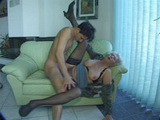 Old Granny Teach Inexperienced Boy To Fuck