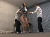 Hot Business Milf Reiko Kobayakawa Blackmailed and Violated at the Garage