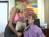 Busty Bombshell Secretary Fucks Confused Boss In The Office