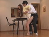 Stepmom Kaori Saejima Swooped By Her Horny Stepson While She Talks To His Dad On the Phone