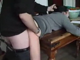 Harsh Father Anal Fucks Daughter After Hard Spanking Punishment