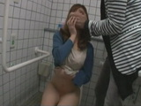 Girl Caught Alone in Public Toilet Forced To Fuck