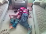 Young Arab Couple Sex on Carpet