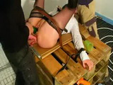 Amateur Wife Gets Tied and Destroyed by Two Drunken Builders
