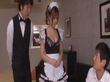 Busty Maid Nene Azami Threesome Uncensored Fuck