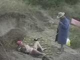 Repairman Catch Old Mom Pleasuring Her Self On The Beach 3x