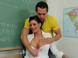 Eager Of Sex MILF Busty Teacher Saduces Young Student