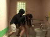 Shaved Pussy Japanese Business Lady Attacked Raped and Creampied In Public Toilet Uncensored