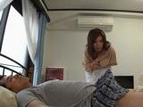 Maid Yukino Azumi Couldnt Resist Not To Jerk Off Sleeping Bosses Boner