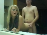 Loud Moaning Teen Bathroom Mirror Sex